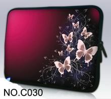"Roxo borboleta laptop sleeve case notebook saco tampa inteligente para ipad macbook 7 ""10 13 13.3 15.4 15.6 Bolsa Para Laptop"