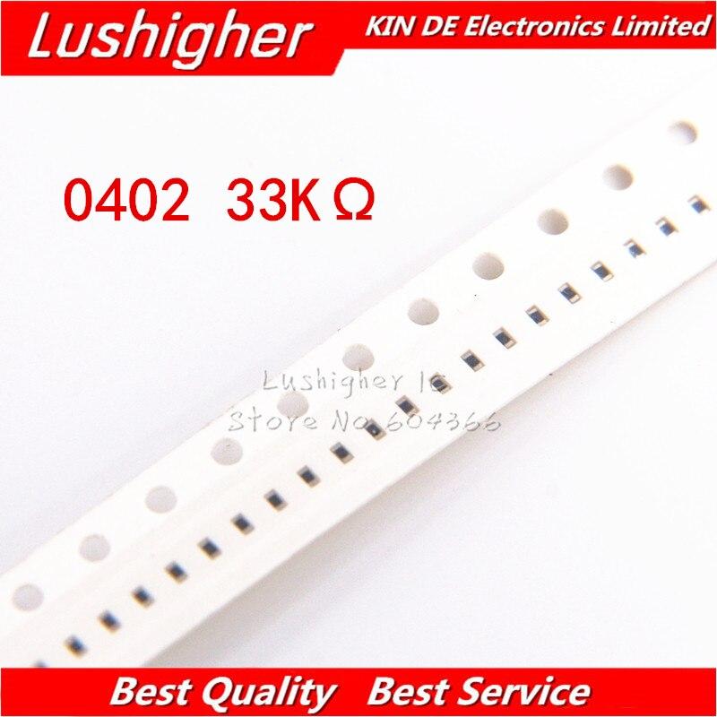 100PCS 0402 SMD Resistor 1% Kohm 33 33K ohm 33000ohm