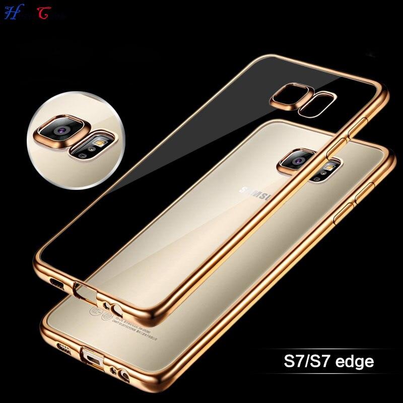 Funda blanda de TPU chapada para Samsung Galaxy S7 Edge S6 Edge S8 S5 A3 A5 2016, funda de teléfono para iPhone 6 6S 6 plus, 5S SE, funda de silicona