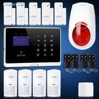 HOMSECUR     systeme dalarme anti-intrusion sans fil  GSM  ecran LCD  avec application  pour le bureau et la maison