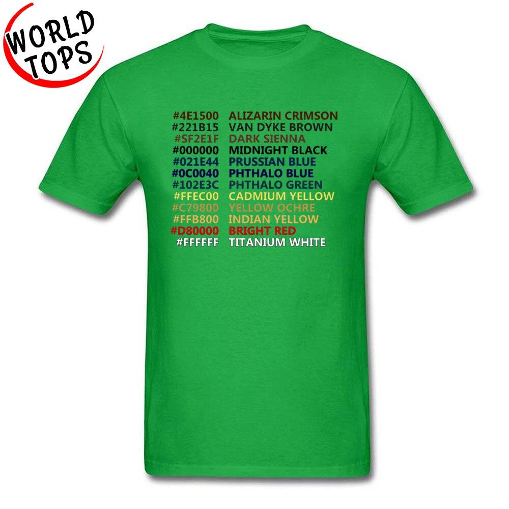 Camisetas Personalizadas Happy Little Colors, camisetas azules de ingeniería de código IT para hombre, Camiseta de algodón con cuello redondo para hombre, camisa de ropa Funky