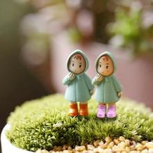 Nieuwe 1 Pcs Leuke Mini Beeldjes Miniatuur Meisje Mei Hars Ambachten Ornament Fairy Garden Gnomes Moss Terraria Home Decorations