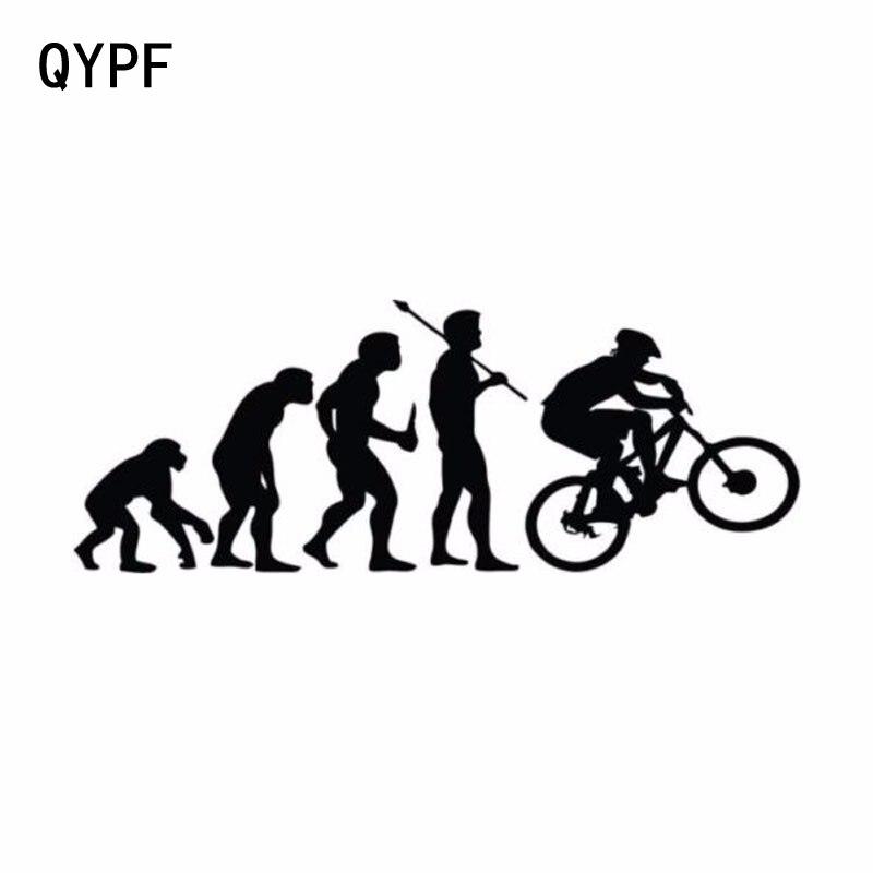 QYPF 15,2 CM * 5,7 CM personalidad escalada bicicleta evolución pegatinas de vinilo para coche S2-0033