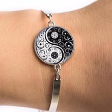 Caxybb Free delivery Hot pin Indian style Yoga jewelry bracelet om symbol Buddhism zen unique colorful Mandala flower bracelets