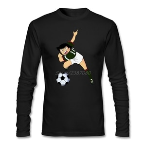 Captain Tsubasa T Shirt Long Sleeve Men's Shirt Fashion Cheap Cotton Crewneck Tee Shirts Homme