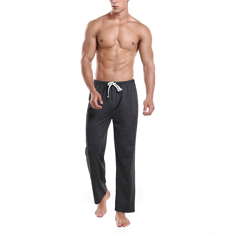 HEFLASHOR Comfort Mens Pajamas Pant Loose Solid Lounge Pant Men Sleepwear Spring Comfy Breathable Casual Sleep Bottoms Trousers