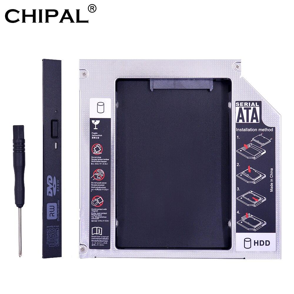 "CHIPAL PATA IDE a SATA 3,0 2nd HDD Caddy 12,7mm para 2,5 ""SSD caso caja de disco duro para Notebook CD-ROM DVD-ROM Optibay"