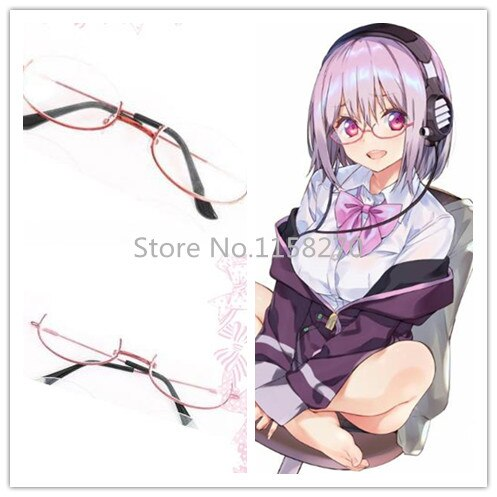 SSSS! Gridman Shinjou Akane Shinjo Cosplay gafas