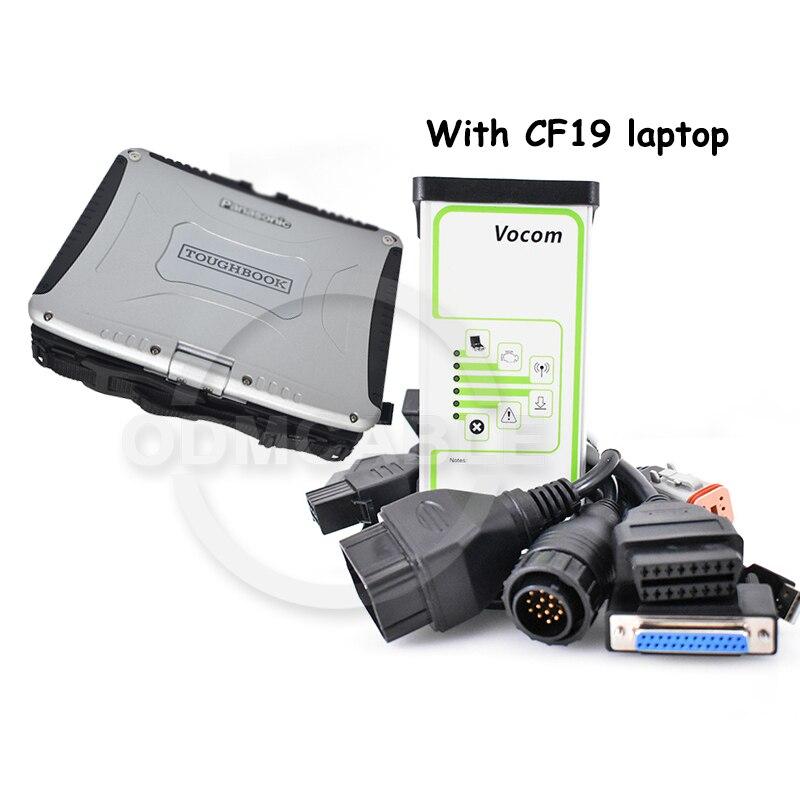Interfaz V2.7 Vocom 88890300 para diagnóstico de camiones Volvo/Renault/MAC vcads con cable vodia penta 6 pin escáner de diagnóstico automático