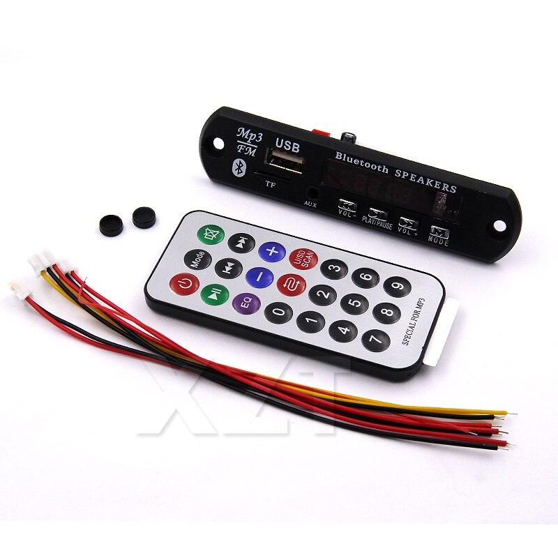 Vendita calda Senza Fili Bluetooth 12 V MP3 WMA Scheda di Decodifica Audio Modulo USB TF Radio Per accessori Auto