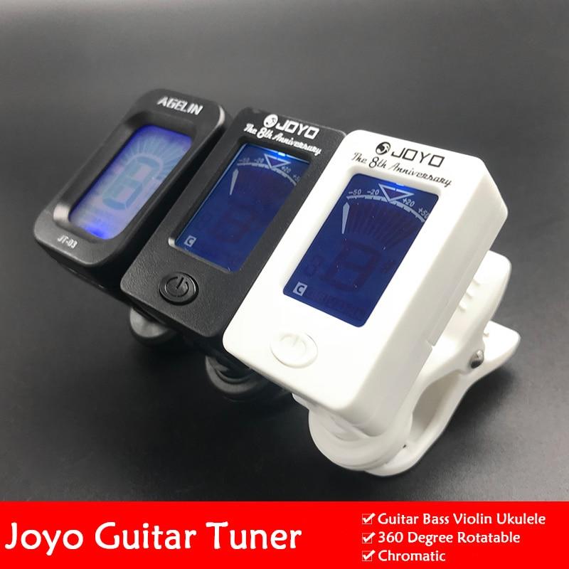 Joyo JT-01 Clip-On Digital Guitar Tuner 360 Degree Rotatable LCD Guitarra Tuner for Chromatic Guitar Bass Violin Ukulele
