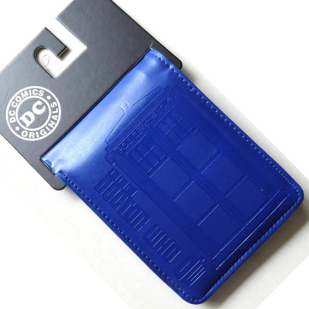 Comics DC Marvel Luxury Wallet Men Blue Purse Card Bag Dollar Wallets The Doctor Who Tardis Doctor Who Karte Police Box carteira