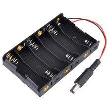 300 pcs/lot MasterFire 6 x AA ABS boîtier de rangement de batterie en plastique support du couvercle de boitier piles avec prise dalimentation DC2.1 pour Arduino