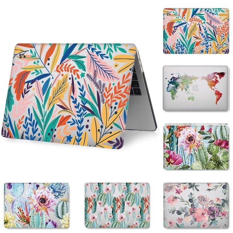 xskemp anti explosion laptop case cover shell for apple macbook pro 15 retina a1398 pu leather and pc protective case shell Fashion Hard Shell Laptop Case for MacBook 12 13.3 inch Retina Touch Air Pro 13 12 15 Shockproof Cover 2018Air 13 A1466 A1398