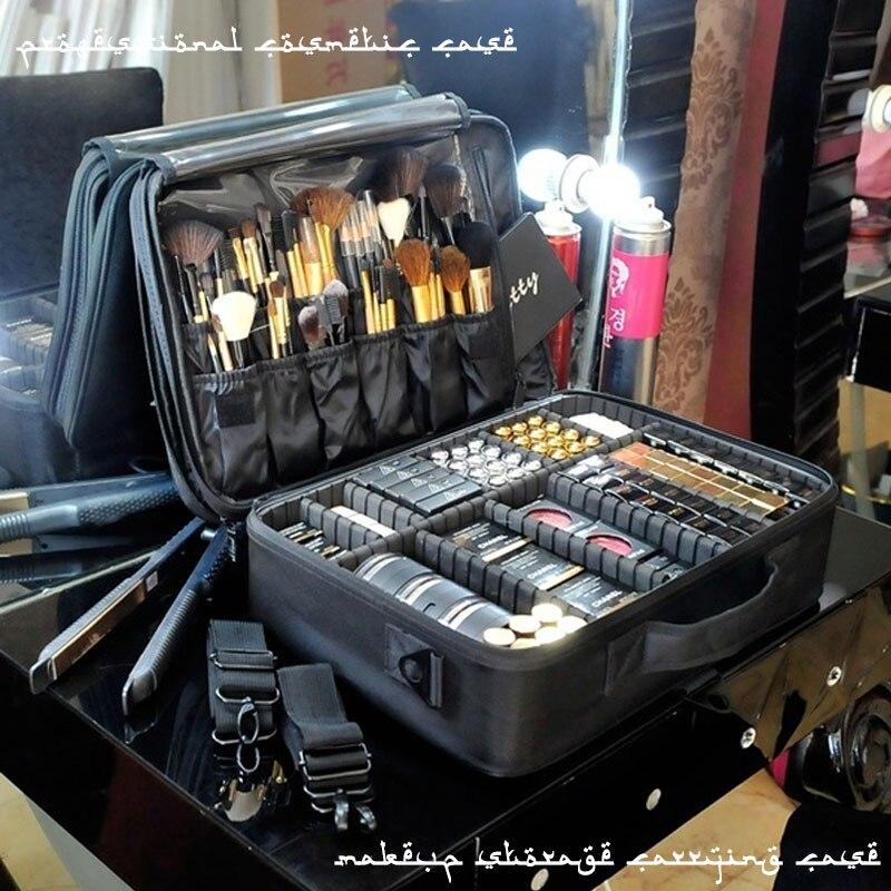 Nova Alta Qualidade Profissional Maquiagem Vazio FC0194 Organizador Caso Cosméticos Saco de Armazenamento De Grande Capacidade Malas de Viagem