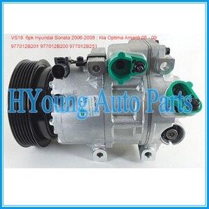 Factory direct sale VS18 air con Compressor for Hyundai Sonata/Kia Optima 977012B201 977012B200 977012B251 CO 10916C