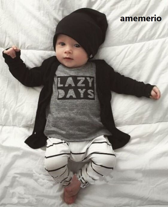 Roupas de bebê outono roupas de bebê recém-nascido infantil algodão manga longa conjuntos de roupas de bebê meninas 2pcs camiseta + calças preguiçoso