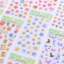 Star univers chat amour fleur musique pain dorure décorative papeterie autocollants Scrapbooking bricolage journal Album Stick étiquette
