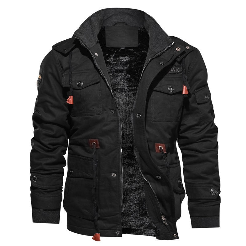 2020 chaquetas de lana de invierno para hombres, Abrigo con capucha, abrigo térmico grueso, rompevientos, ropa de abrigo de calidad, chaquetas militares para hombres, M-4XL