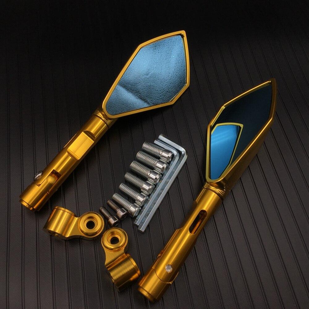 Espejos laterales para motocicleta CNC dorados espejo retrovisor modificado Universal para Honda Monkey Yamaha Kawasaki Suzuki