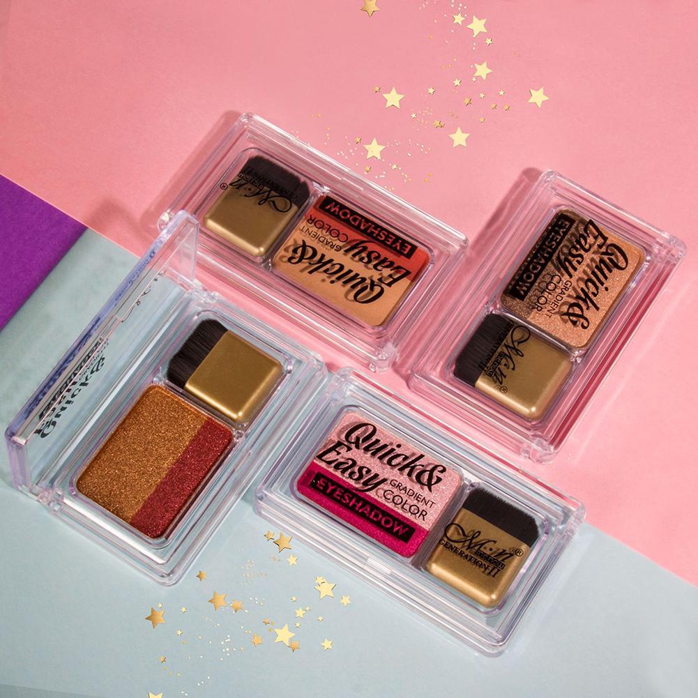 1 pc Novo Shimmer Duas Cores Da Paleta Da Sombra de Longa Duração Natural Mulheres Makeup Palette Nova paleta de sombra Olho Nu cosméticos