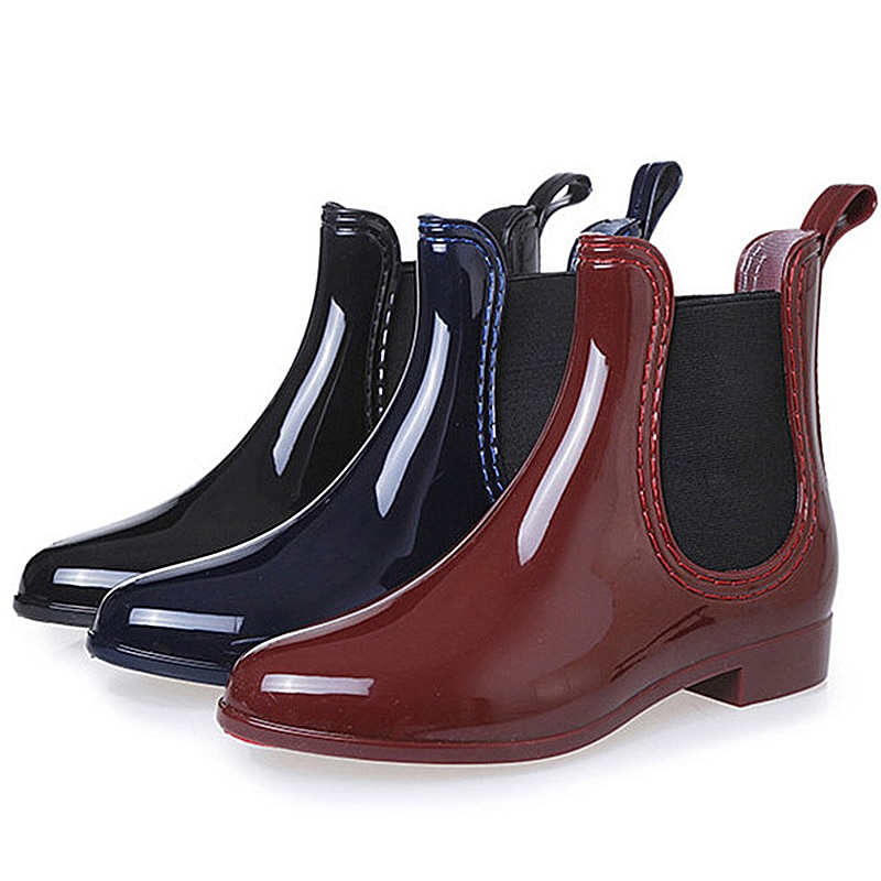 Botines de primavera para Mujer, para niña Botas de lluvia, Botas Chelsea, calzado impermeable de otoño, zapatos de goma para Mujer, zapatos antideslizantes, Botas para Mujer