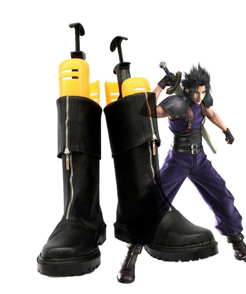 FF7 Final Fantasy VII Crisis Core Zack Fair Cosplay Shoes Botas Custom Made