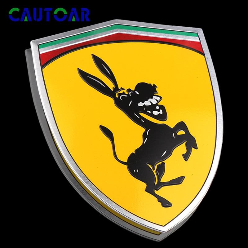 AliExpress - Metal Donkey Logo Exterior Accessories Prank for Ferrari Decoration Car Sticker Auto Decals Creative Funny Car Styling