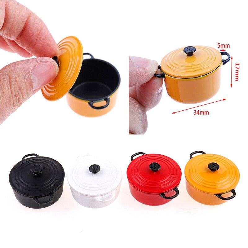 Nuevo caliente 112 miniatura Mini olla Caldera, olla fingir jugar juguetes para niños casa de muñecas cocina utensilios de cocina de cerámica