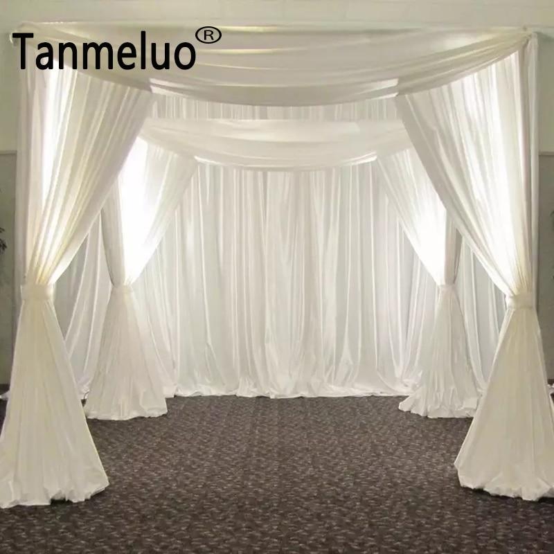 ستائر خلفية للجناح ، قوس زفاف ، زينة زفاف ، ستائر مربعة ، بالجملة