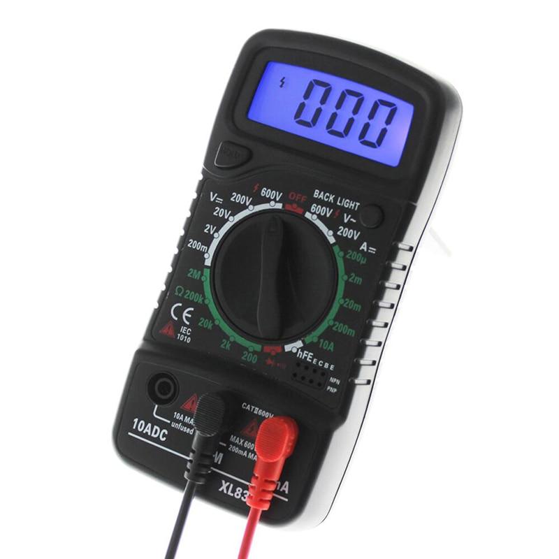 Цифровой мультиметр с ЖК-дисплеем, вольтметр, амперметр, переменный/постоянный ток, Ом, тестер тока