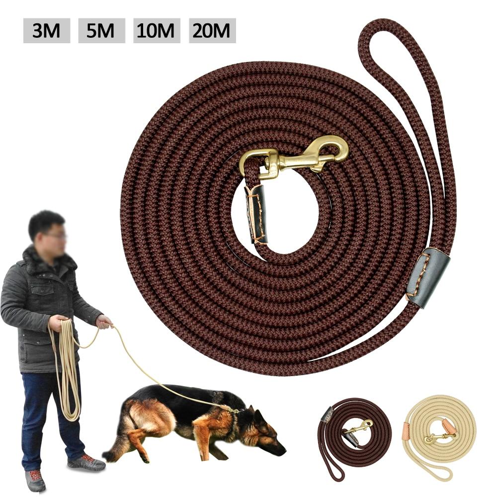 Прочный поводок для собак, нейлоновый длинный поводок для собак, тренировочный поводок для домашних животных, 3 м, 5 м, 10 м, 20 м, для средних и б...