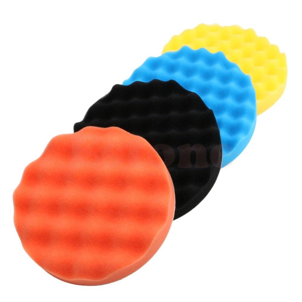 Хороший 4 шт 3 дюйма (80 мм) полировка губки колодки Набор Для Полировки Автомобиля буфера