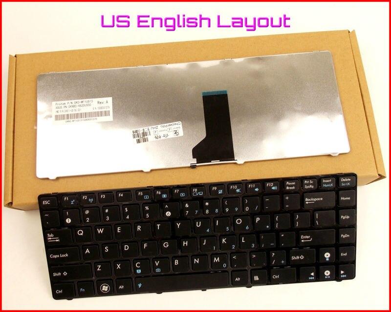 Nouveau clavier Version anglaise américaine pour ASUS UL80JT N82 N82J N82JQ N82JG N82JV A42D A42F U30 UL30V ordinateur portable avec cadre noir