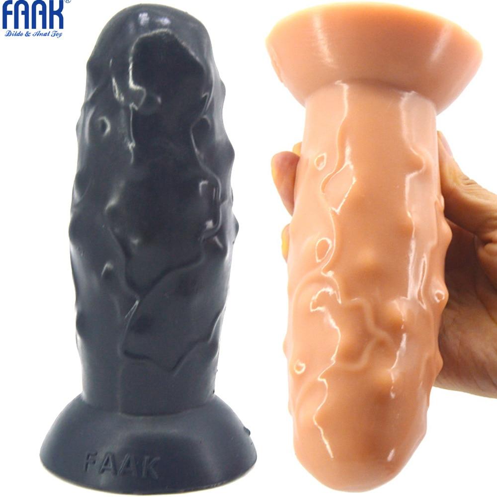 FAAK juguetes sexuales para hombres Anal mujeres gran Consolador Anal tapón con copa de succión de silicona enchufe trasero Gay grande Anal Juguetes