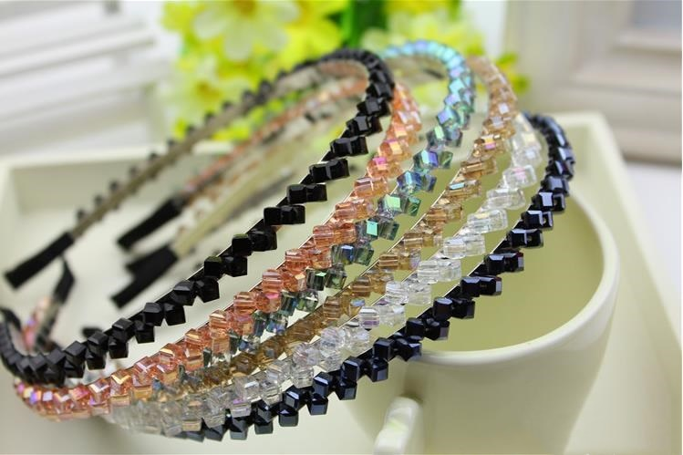 Banda de pelo de diamantes de imitación de lujo brillante para niñas de moda accesorios de aro de diamantes de alta calidad para el cabello para mujeres diademas de cristal