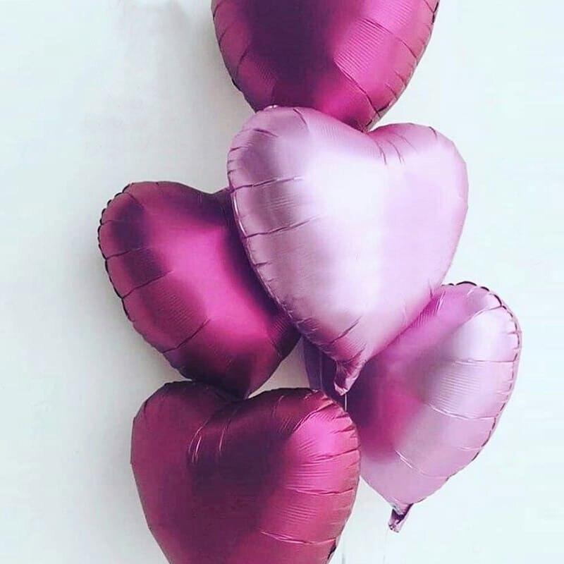 1 unidad de globos de aire de helio metalizados de corazón de estrella de 18 pulgadas, globos de aluminio de helio, decoración para fiesta de cumpleaños o boda, decoración para fiesta de bienvenida de bebé