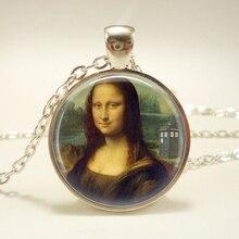 Dr Who collier Tardis bijoux Mona Lisa collier dr Who bijoux colliers pendentifs pour femmes cadeau de noël pour lamitié