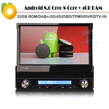 Octa Core-Autoradio Android 8.0   Autoradio, DAB GPS, piste de Navigation, Radio DVD, lecteur MP3, Bluetooth, Wifi, 4G USB, TPMS DVR DVB-T