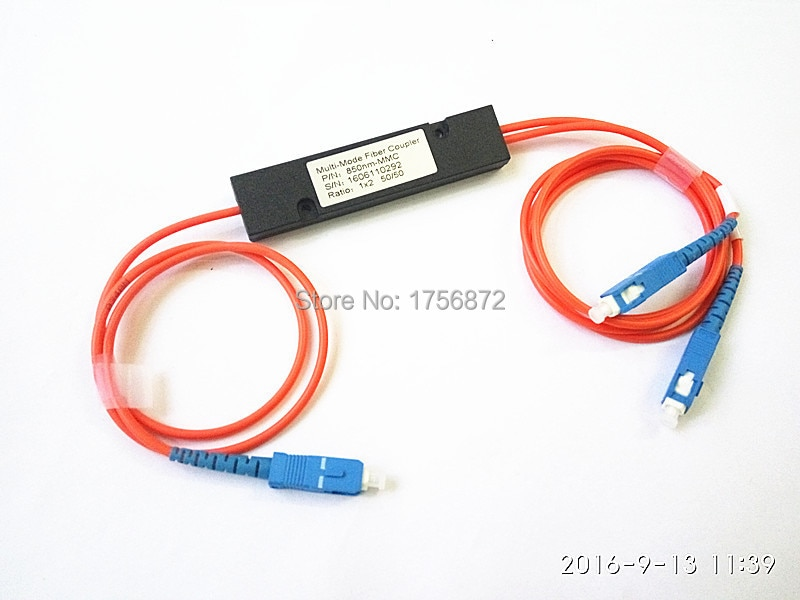 موصل متعدد الأوضاع 1X2 FBT ، وحدة الفاصل 50:50 ، صندوق قارنة الألياف البصرية ، موصل SC/UPC ، 1 متر