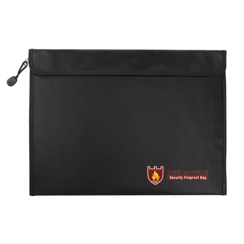 Maletín de oficina de 38x28 CM para documentos, resistente a altas temperaturas, resistente al fuego, impermeable, paquete de documentos seguro, carpeta, bolsas