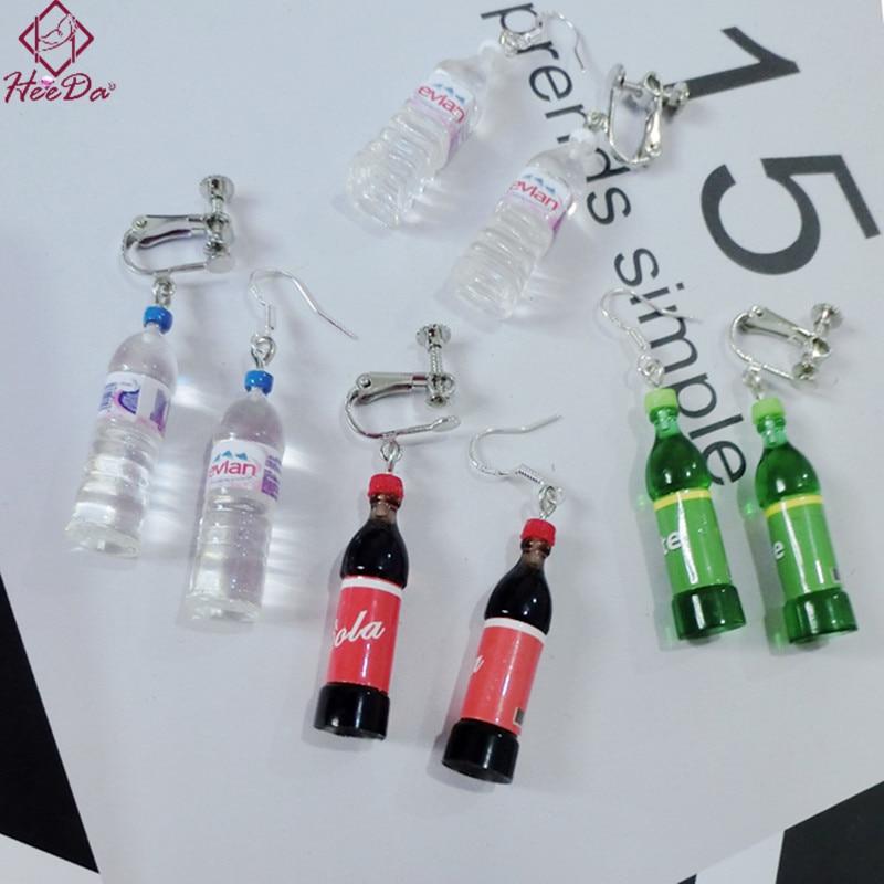 Heeda Creative Mineral Water Bottles Earrings for Women Fashion Anti Allergy Eardrop 2018 New Fun Brincos Nightclub Decoration