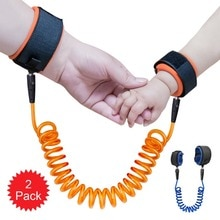 2 Pack Child Anti Lost Strap Skin Care Wrist Link Belt Sturdy Flexible Safety Harness for Travel Out
