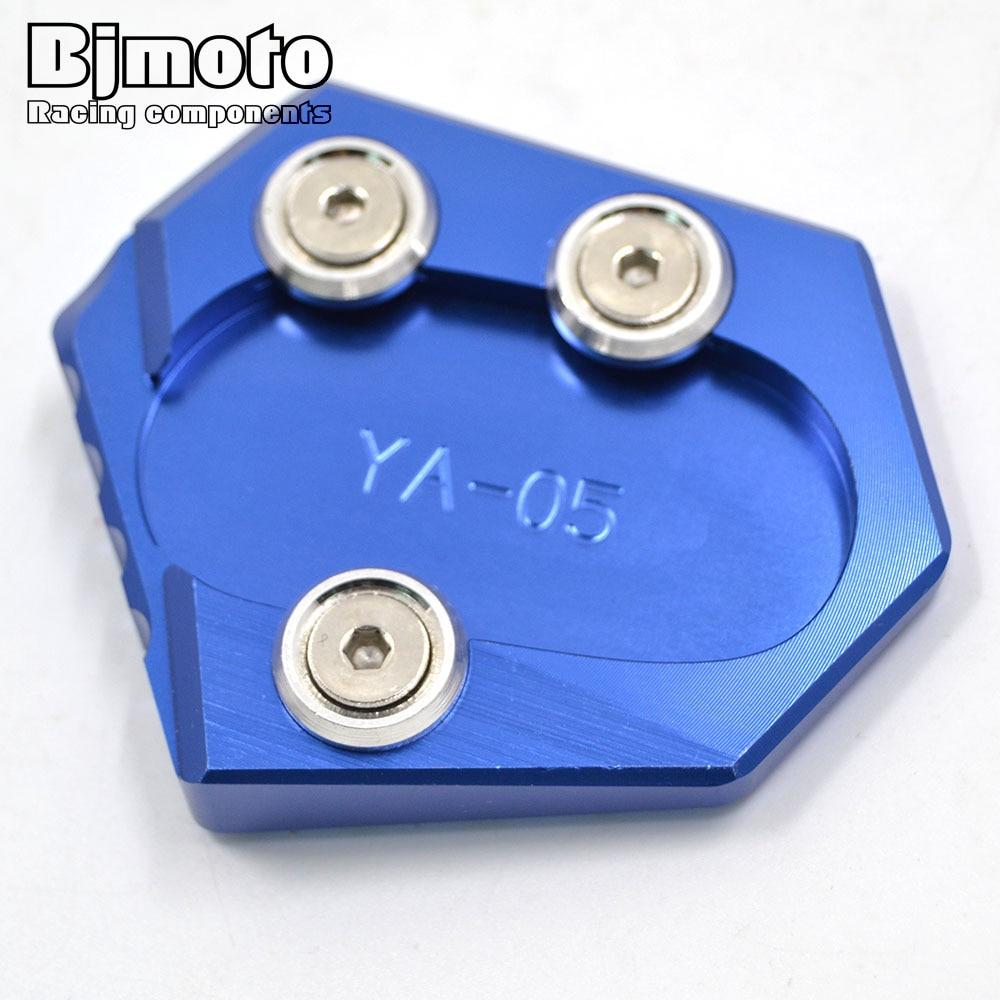 BJMOTO piezas de la motocicleta soporte pie lado ampliar extensión de la placa de soporte para Yamaha MT 09 FZ 09 MT-09 FZ-09 14-18