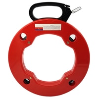 Pipe Wrie Cable Puller Expert 30m Spring-Steel Fish Tape,with High Impact Case great for Long Run and Heavy Duty Wire Puller