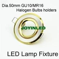 free shipping 5pcs gu10 mr16 gu5 3 e27 globe led spotlight trim kits recessed ceiling led downlight fixtures