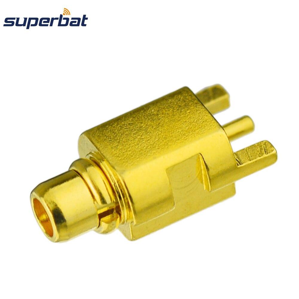 Superbat 10 Uds MMCX borde montaje en PCB MMCX Plug conector macho RF chapado en oro