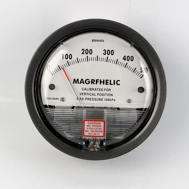 Te2000 0-500pa micro medidor de pressão diferencial alto