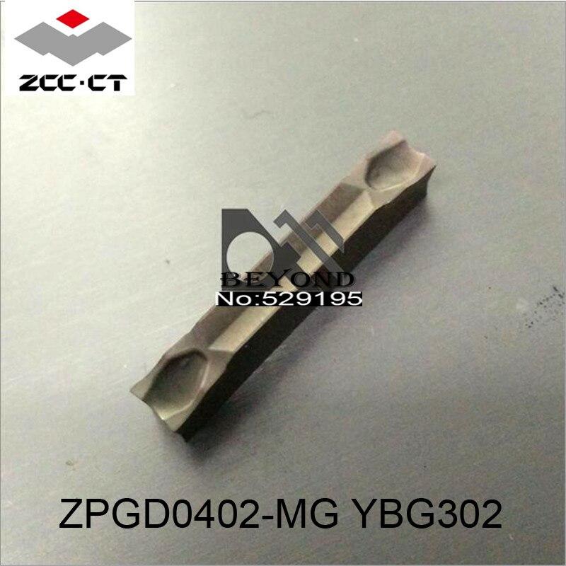 Original ZCC Insert ZPGD0402-MG YBG302 ZPGD 0402 10pcs  Grooving Slot Turning Tool CNC Lathe Tools nóż tokarski Carbide Inserts