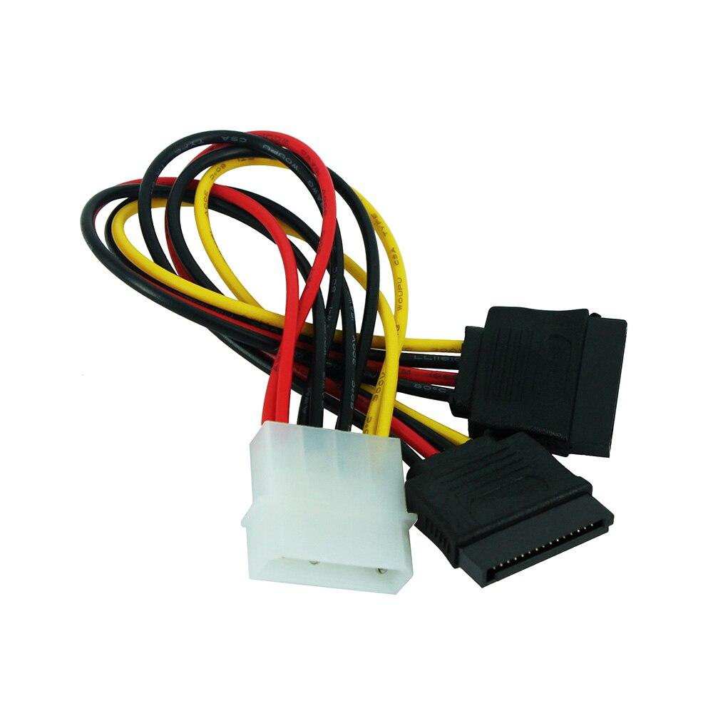 4-контактный разъем Molex Male для двойной ATA SATA 2 Female Y Splitter кабель жесткого диска кабель питания для компьютера кабель ningbo molex sata tl ata